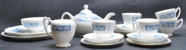 VINTAGE COALPORT REVELRY PATTERN TEA SERVICE