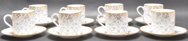 1920'S ROYAL WORCESTER ARAGON EIGHT PERSON TEA SERVICE