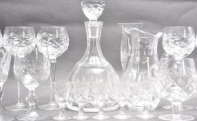 LARGE COLLECTION OF CUT GLASS WARE