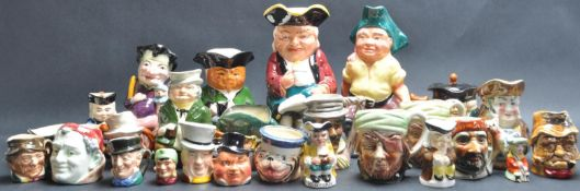 LARGE GROUP OF CERAMIC CHARACTER JUGS