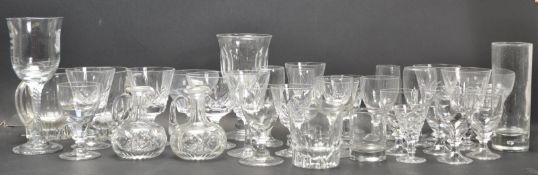 COLLECTION OF 1980'S CUT GLASS WARE