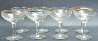 SET OF EIGHT VINTAGE 20TH CENTURY BABYCHAM GLASSES