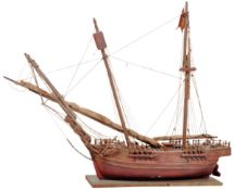 20TH CENTURY SCRATCH BUILT MODEL SHIP