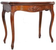 19TH CENTURY FRENCH WALNUT CARD / GAMES TABLE