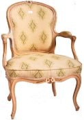 18TH CENTURY LOUIS XVI FRENCH FAUTEUIL ARMCHAIR