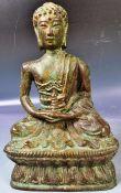 EARLY 20TH CENTURY BRONZE OF MEDICINE BUDDHA