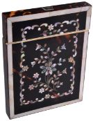 19TH CENTURY TORTOISESHELL AND MOTHER OF PEARL CARD CASE