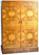 ART DECO WALNUT GENTLEMAN'S COMPACTUM WARDROBE BY COMPACTOM