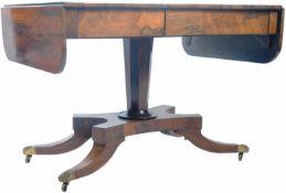 19TH CENTURY REGENCY PERIOD ROSEWOOD SOFA TABLE