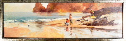 NICHOLAS ST JOHN ROSSE B 1945 - BOSSINEY COVE OIL ON BOARD