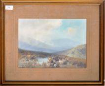 FREDERICK JOHN WIDGERY - WATERCOLOUR OF DARTMOOR