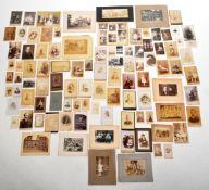 19TH CENTURY VICTORIAN CABINET PHOTOGRAPHS & CDVS