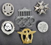 COLLECTION OF ASSORTED GERMAN THIRD REICH REPLICA BADGES