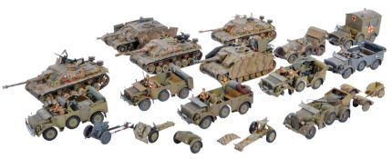 COLLECTION OF VINTAGE PLASTIC MODEL GERMAN MILITARY TANKS