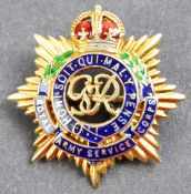 WWII SECOND WORLD WAR 14CT GOLD RASC GOLD PIN BADGE