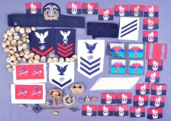 COLLECTION OF ASSORTED WWII PERIOD BADGES & CLOTH PATCHES