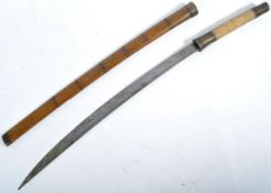 19TH CENTURY BURMESE DHA SWORD