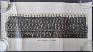 POST-WWII RAF PADGATE - BOB MONKHOUSE - AUTOGRAPHED REGIMENTAL PHOTOGRAPH
