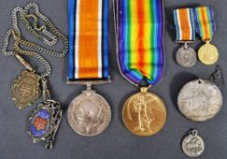 WWI FIRST WORLD WAR MEDAL PAIR & EFFECTS - ROYAL NAVY