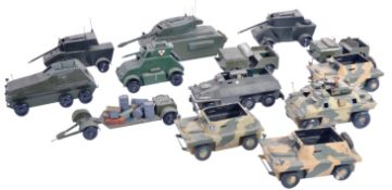COLLECTION OF X12 WOODEN MILITARY TANK MODELS