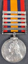 BOER WAR - QUEEN'S SOUTH AFRICA MEDAL - CORPORAL IN MIDDLESEX REGMT