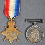 WWI FIRST WORLD WAR MEDAL PAIR - PRIVATE IN WEST RIDING REGIMENT