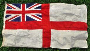 LARGE WWII SECOND WORLD WAR ROYAL NAVY ENSIGN FLAG