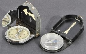 TWO WWII SECOND WORLD WAR GERMAN MADE MARCHING COMPASSES