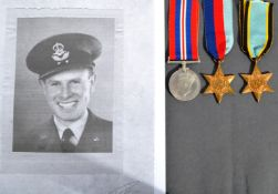 WWII MEDAL GROUP - RCAF - MIA ' CHANNEL DASH ' - BOMBER COMMAND