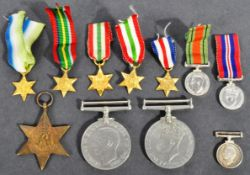 WWII MEDAL GROUP & COLLECTION OF MINIATURE MEDALS