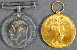 WWI FIRST WORLD WAR MEDALS - PRIVATE IN ESSEX REGIMENT
