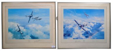 WWII SECOND WORLD WAR - ROBERT TAYLOR - SIGNED PRINTS
