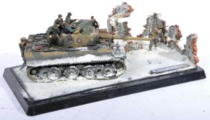 WWII SECOND WORLD WAR - DIORAMA OF A GERMAN TIGER TANK IN SNOW