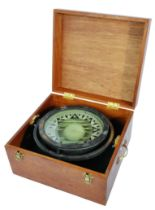 LARGE EARLY 20TH CENTURY SHIP'S NAUTICAL COMPASS