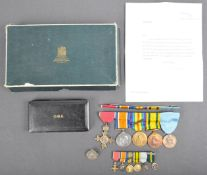 WWI FIRST & WWII SECOND WORLD WAR MEDAL GROUP - OBE - CAPTAIN FRANK J. HARRIS
