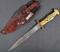 19TH CENTURY JOSEPH RODGERS NO.6 FOLDING KNIFE & SCABBARD