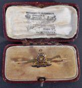 WWII SECOND WORLD WAR INTEREST ROYAL ARTILLERY SWEETHEART BROOCH
