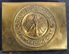 WEIMAR REPUBLIC IMPERIAL GERMAN REICHSBANNER BELT BUCKLE