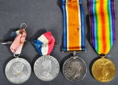 WWI FIRST WORLD WAR MEDAL PAIR - PRIVATE IN HAMPSHIRE REGIMENT