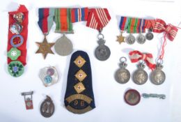WWII SECOND WORLD WAR DANISH MEDAL GROUP & RELATED BADGES