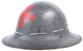 ORIGINAL WWII BRITISH ZUCKERMAN AIR RAID PRECAUTIONS HELMET