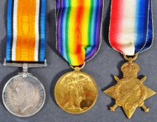 WWI FIRST WORLD WAR MEDAL GROUP - PRIVATE IN ARMY SERVICE CORPS