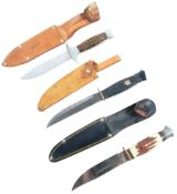 COLLECTION OF X3 20TH CENTURY DAGGERS / KNIVES