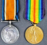 WWI FIRST WORLD WAR - MEDAL PAIR TO PRIVATE IN ROYAL FUSILIERS