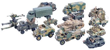 COLLECTION OF VINTAGE PLASTIC MODEL MILITARY TANKS