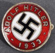 ORIGINAL ADOLF HITLER NSDAP NAZI PARTY MEMBER'S BADGE