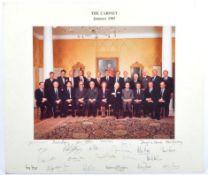 CONSERVATIVE PARTY 1985 - AUTOGRAPHED CABINET PHOTOGRAPH