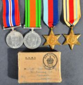 WWII SECOND WORLD WAR MEDAL GROUP - INC AFRICA STAR