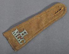 WWI FIRST WORLD WAR BRITISH MACHINE GUN CORPS TUNIC EPAULETTE