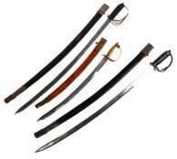 THREE EARLY 20TH CENTURY INDIAN CAVALRY SWORDS